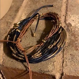 Leather pulley bracelets